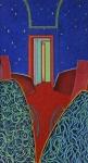 Corridor III, pastel sur papier Fabriano marouflé sur bois, 121 x 66 cm, 1984