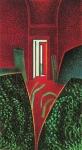 Corridor IV, pastel sur papier Fabriano marouflé sur bois, 122 x 66 cm, 1984