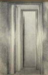 Corridor, fusain sur papier Fabriano, ca. 120 x 60, 1984