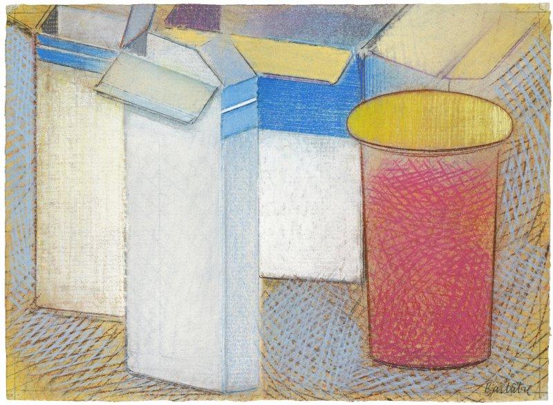 Pharmacity - Bleu, blanc, rouge, pastel sur papier Fabriano Roma, 25 X 33 cm, 2010