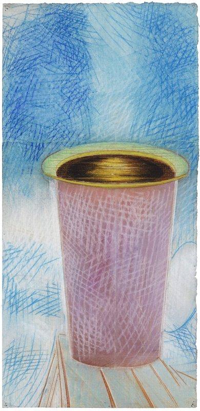 Tsuki, pastel sur papier Fabriano Roma, 50 x 24,5 cm, 2015