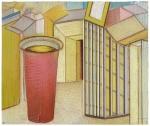 Pharmacity - Les Jumeaux, pastel sur papier Fabriano Roma, 33 x 40 cm, 2014