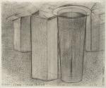 Pharmacity - dessin préparatoire - Les mariés, pastel sur papier Fabriano Roma, 33 x 40 cm, 2010-2014