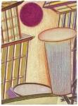 Série Ballard ministère de La Défense, pastel sur papier Fabriano Roma, 33 x 21 cm, 2010-2015