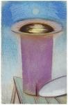 Tsuki, pastel sur papier Fabriano Roma, 33 x 21 cm, 2015