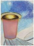 Tsuki, pastel sur papier Fabriano Roma, 33 x 24,5 cm, 2015