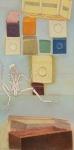 La pente savonneuse, pastel sur papier Fabriano marouflé sur bois, 133 x 66 cm, 1990