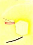 Nature morte au savon et un bâton d'encens 1, pastel sur papier Fabriano, 65 x 50 cm, 1990