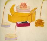Nature morte avec un crabe, pastel sur papier Fabriano, 70 x 79 cm, 1990-1992