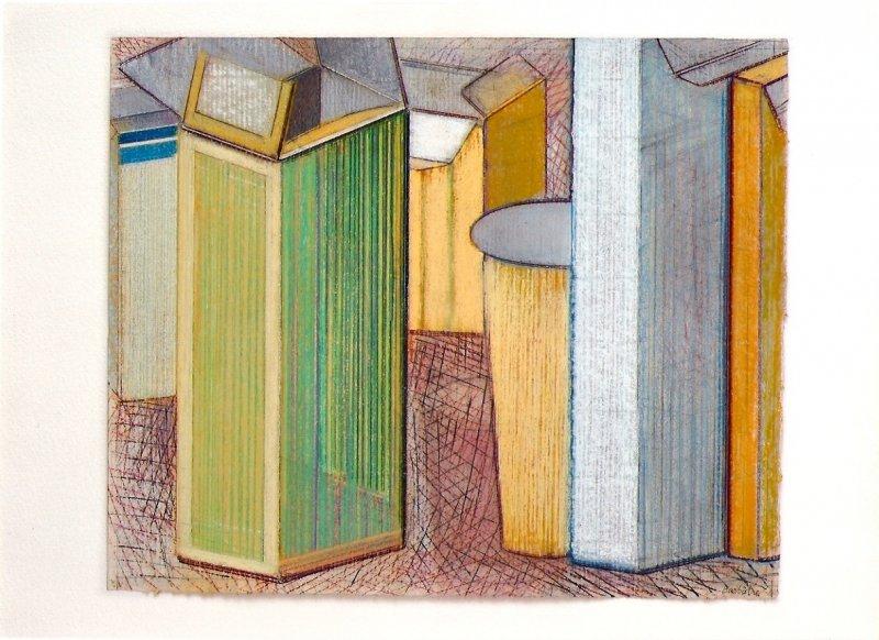 Nature morte, pastel sur papier Fabriano, 33 x 40 cm, 2008