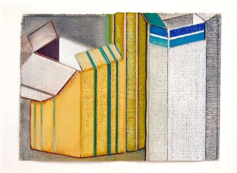 Petite pharmacie, pastel sur papier Fabriano, 24 x 33 cm, 2008